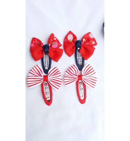 4pcs Baby Girls Bowknot Hair Clips