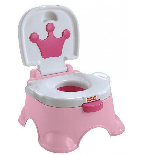 Fisher-Price Pink Princess Stepstool Potty, Princess