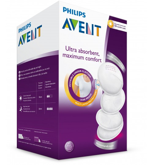 Philips Avent Day Disposable Breast Pads, 100 Count