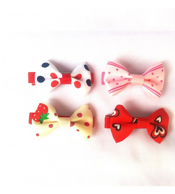 4pcs Dot Bow Hair Clips Hair Clips