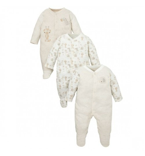 Mothercare Baby Unisex Hedgehog Sleepsuits New Baby Size