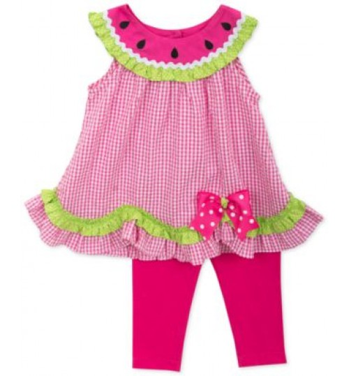 Rare Editions Girls Spring Summer Dress With Leggings
