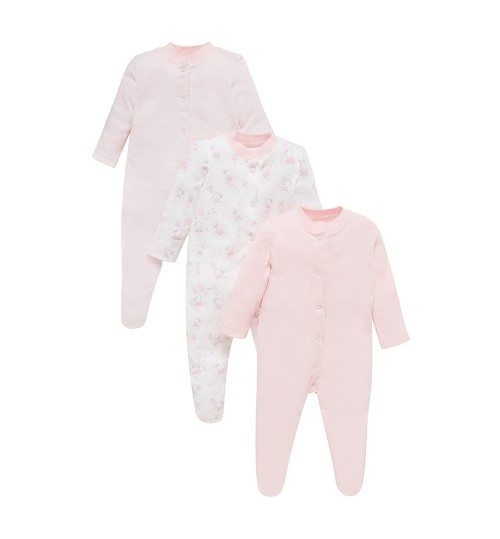 Mothercare Baby Girl 3 Pack Sleepsuit