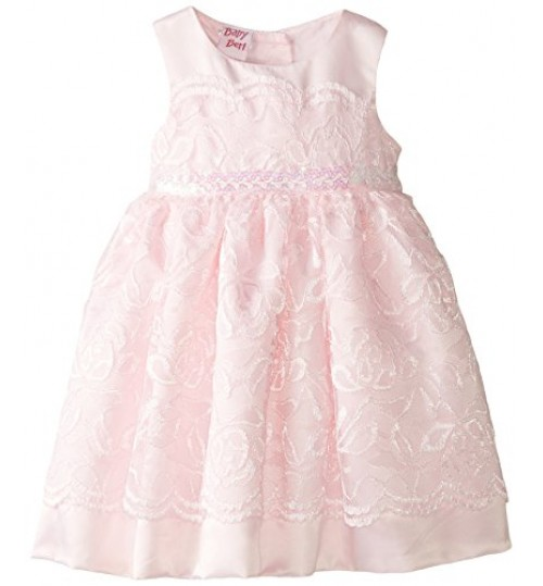 Blueberi Boulevard Baby-Girls Newborn Sleeveless Lace Bead Waist Dress