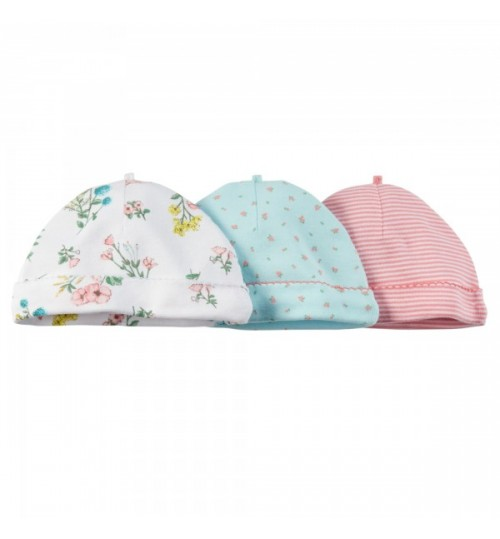 carter's Baby girl 3 Pack Caps