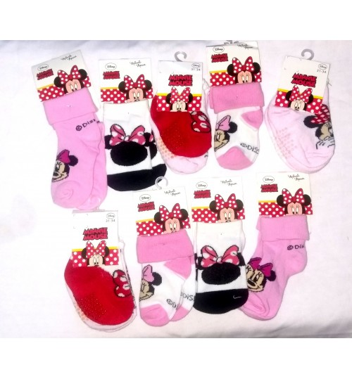 Minnie Mouse Socks - Pack OF 12