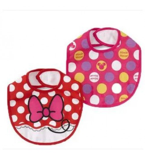 Minnie Mouse 2 Pack Bibs