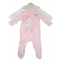 George Baby Girl's 2 Pack Sleepsuits