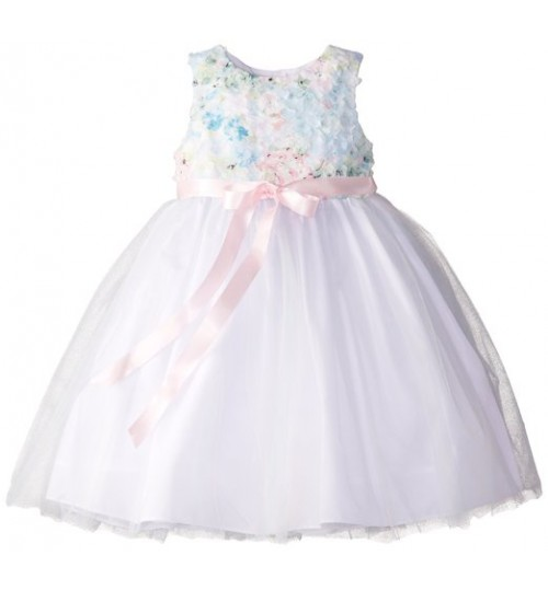 Marmellata Little Girls Floral Top Ballerina Dress