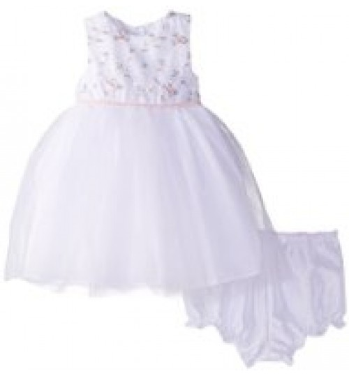 Marmellata Baby Girls Embroidered Bodice Dress