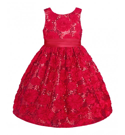 American Princess Red Sequin Dress
