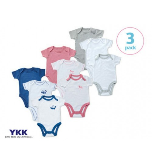 Avenue Baby 3 Bodysuits Pink