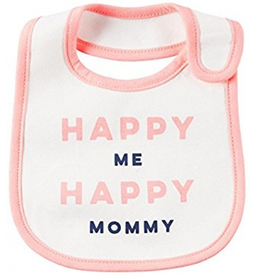 Carter's Baby Girls' Happy Me Happy Mommy Bib