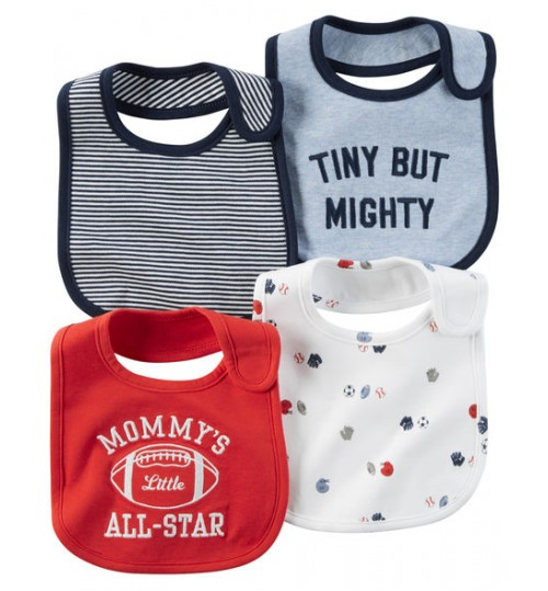 Carter's 4 Pack Teething Bibs