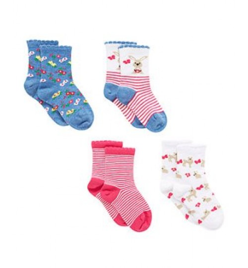 Mothercare Bunny Socks - 4 Pack