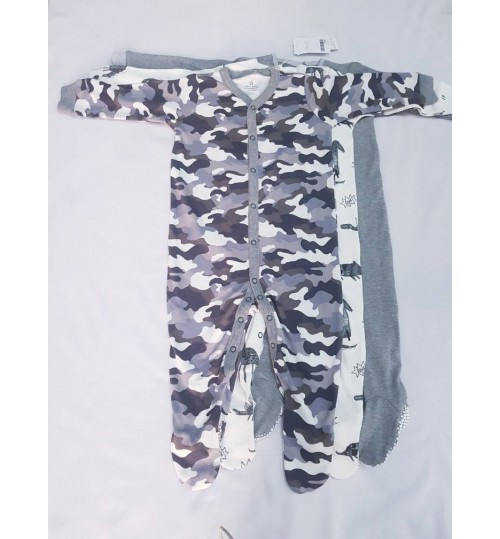 Next 3 Pack Camo Sleepsuits