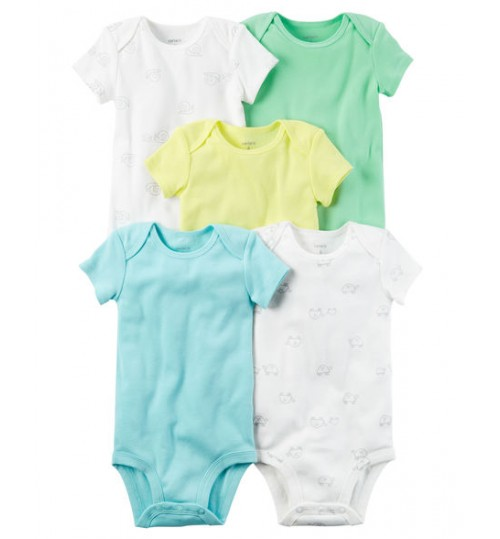 Carter's Unisex 5 Pack Short-sleeve Original Bodysuits