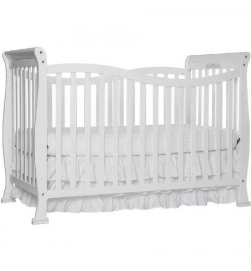 Dream On Me Violet 7-in-1 Convertible Crib White, with Free Mattress
