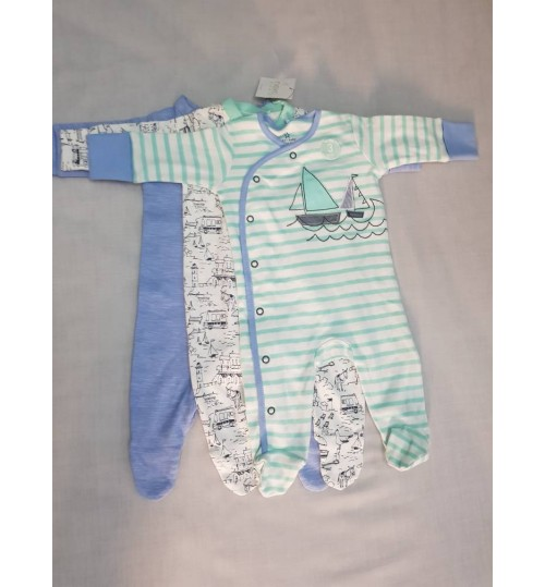 Next 3 Pack Sleepsuits