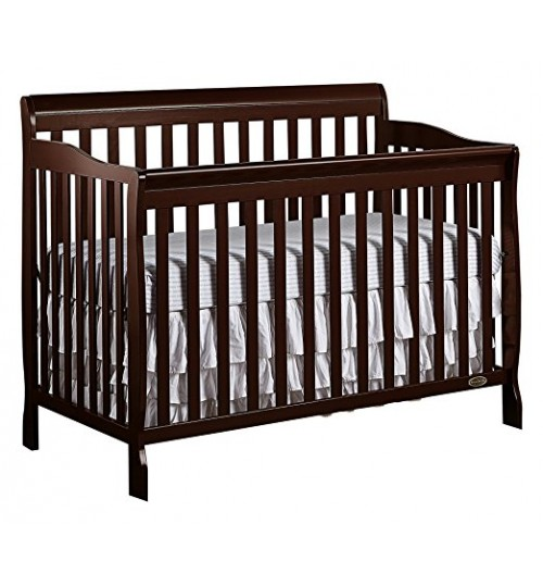 Dream On Me Ashton  5 In 1 Convertible crib, Espresso with Mattress