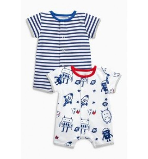 Next Navy Stars And Stripes Sleepsuits