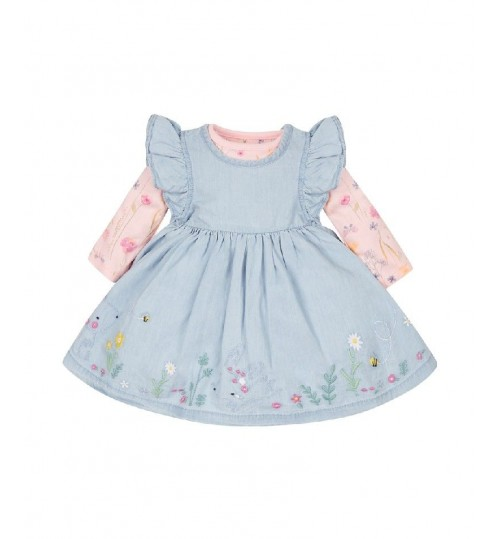 Mothercare Floral Bodysuit and Dress Set