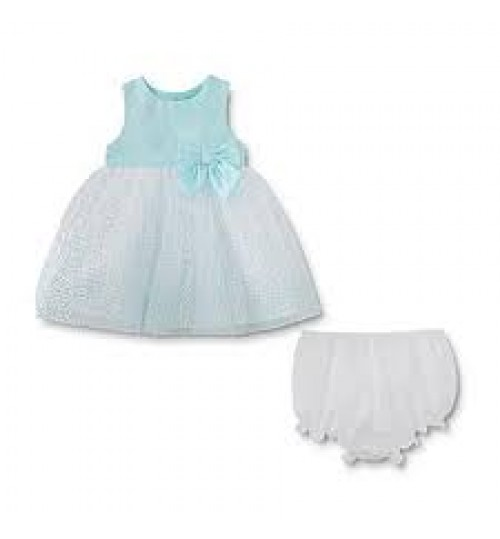 Holiday Editions Newborn Girls' Occasion Dress And Diaper Cover - Mint