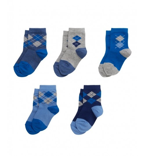 Mothercare Boys Printed Socks Pack of 5