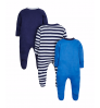 Mothercare Baby Boy Mummy and Daddy Sleepsuits -3 Pack