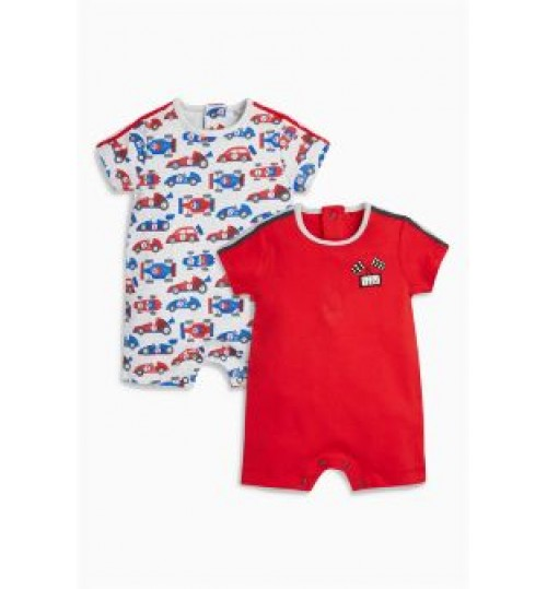 Next Newborn Boys Rompersuits  Red