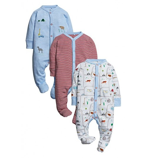 Next 3 Pack Girl's Sleepsuits