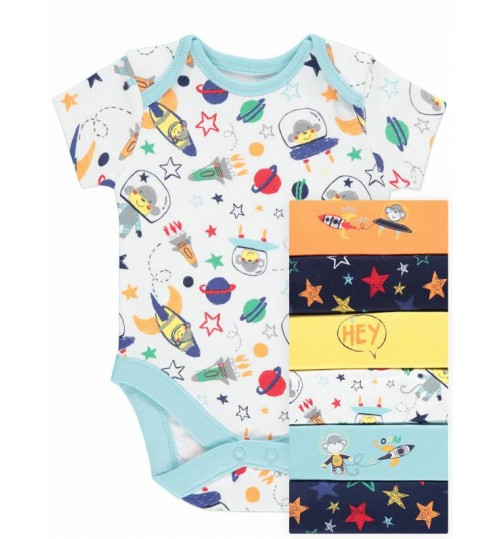 George 7 Pack Space Monkey Bodysuits