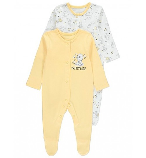 George 2 Pack Baby Looney Tunes Tweety Pie Sleepsuits