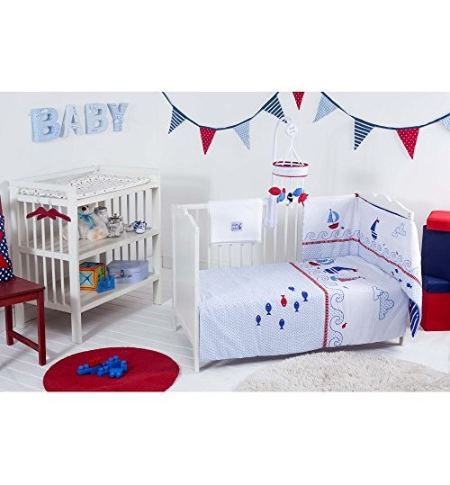 Red Kite Baby Cosi Cot 4 Piece Bedding Set, Blue