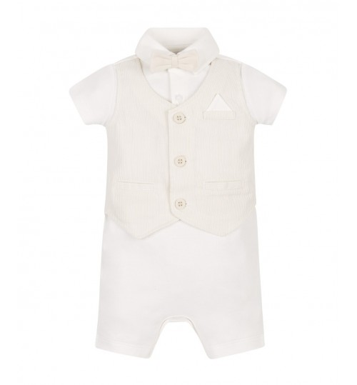 Mothercare Romper with a Waistcoat and Bow Tie