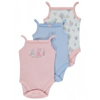 3 Pack Strappy Assorted Bodysuits