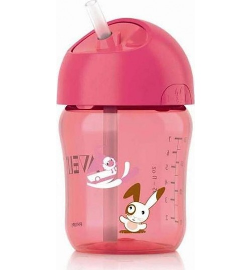 Philips Avent 260ml Cup with Straw 12m+ Pink