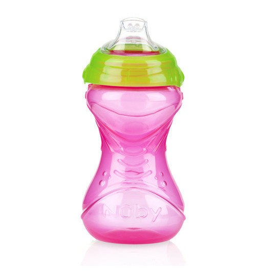 Nuby Trainer Sipeez 6m+  - Green & Pink