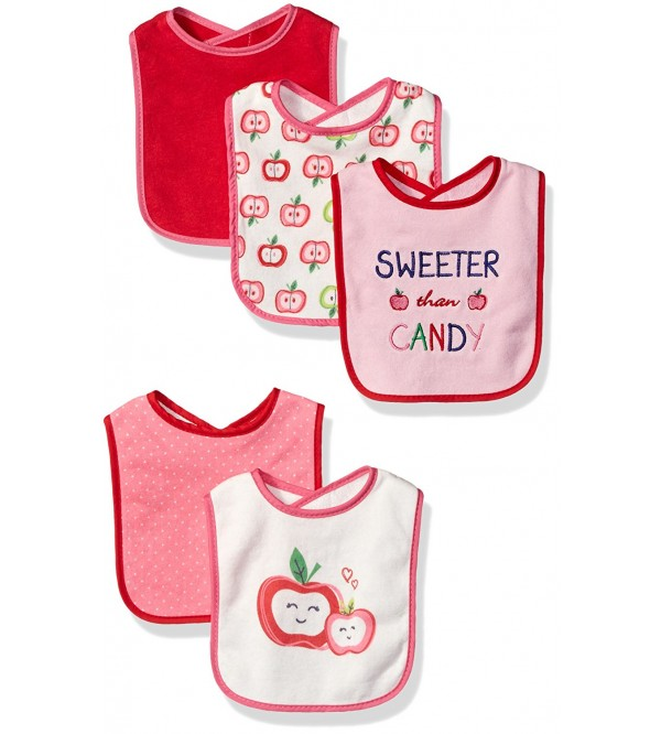 Lovespun Baby Dainty 5 Pack Assorted Bib Set, Sweeter Than Candy, One Size