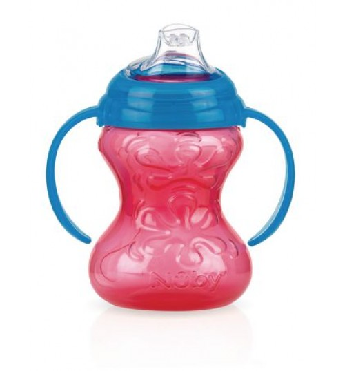 Nuby Super Spout Grip and Sip Cup, Blue and Red