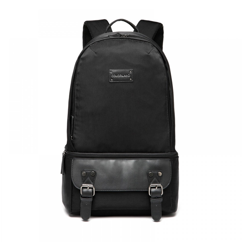 Colorland Ivan Diaper Backpack with Cooler Bag, Black