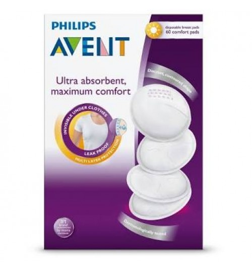 Philips Avent Day Disposable Breast Pads, 60 Count