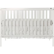 Dream on Me Synergy 5 in 1 Convertible Crib, White with Free Mattress