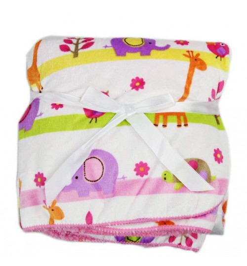 Carter's Fleece Blanket; Pink and Purple