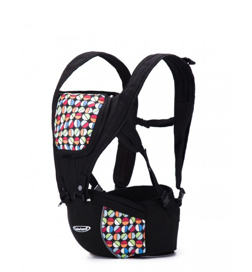 Colorland 4-way Koala Ergo Hip Seat Baby Carrier-Black
