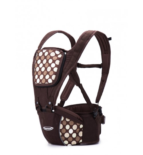 Colorland 4-way Koala Ergo Hip Seat Baby Carrier-Brown