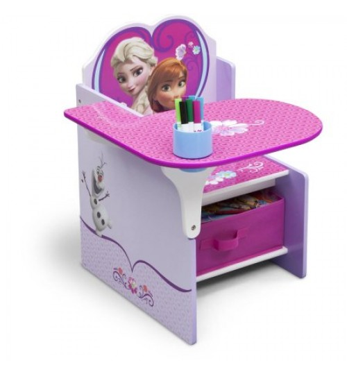 Delta Children Frozen Chair Desk with Storage Bin