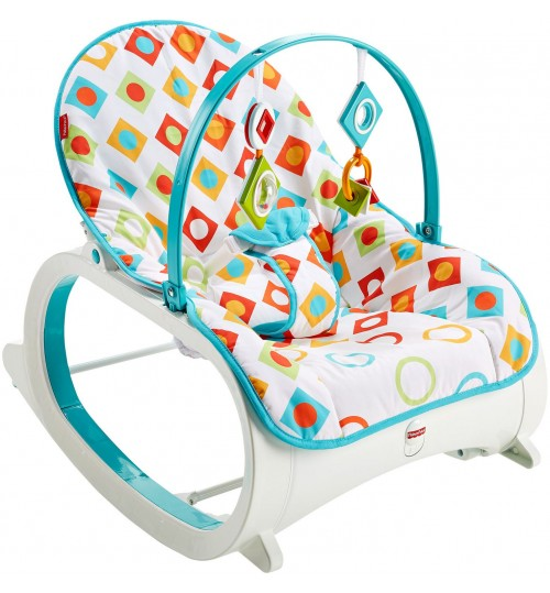 Fisher-Price Infant-to-Toddler Rocker, Geo Diamonds