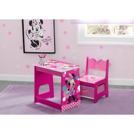 Disney Minnie Mouse Kids Wood Desk and Chair Set by Delta Children