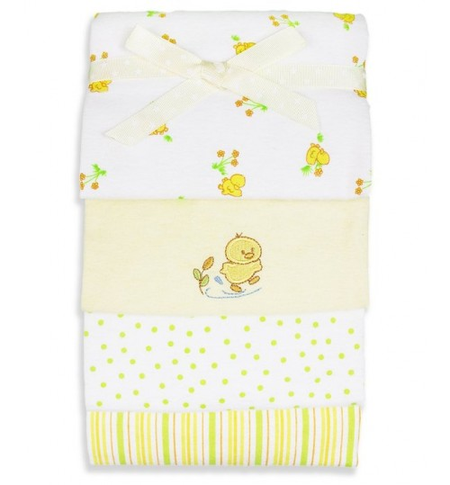 4 Pack receiving blanket, Yellow Duck